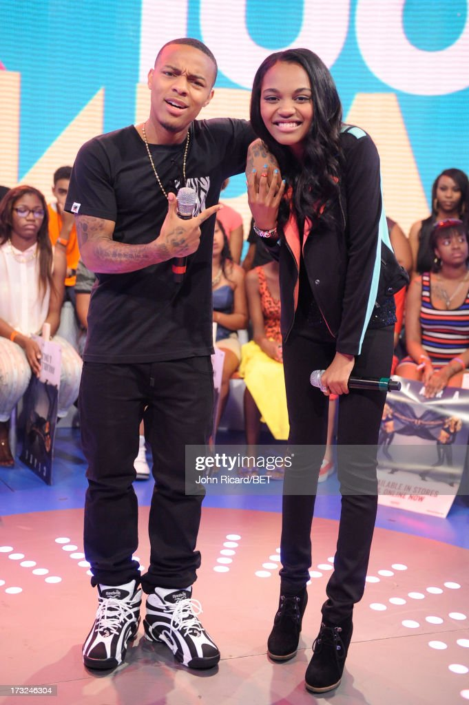 <a gi-track='captionPersonalityLinkClicked' href=/galleries/search?phrase=Bow+Wow+-+Rapper&family=editorial&specificpeople=211211 ng-click='$event.stopPropagation()'>Bow Wow</a> with China Anne McClain at BET's 106 & Park at BET Studios on July 10, 2013 in New York City.