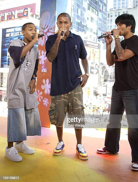 Bow Wow with Pharrell Williams and Chad Hugo of The Neptunes