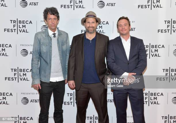 TJ Bowen Tommy Swerdlow and Blake Heron attend the 'A Thousand Junkies' Premiere during 2017 Tribeca Film Festival at Cinepolis Chelsea on April 22...