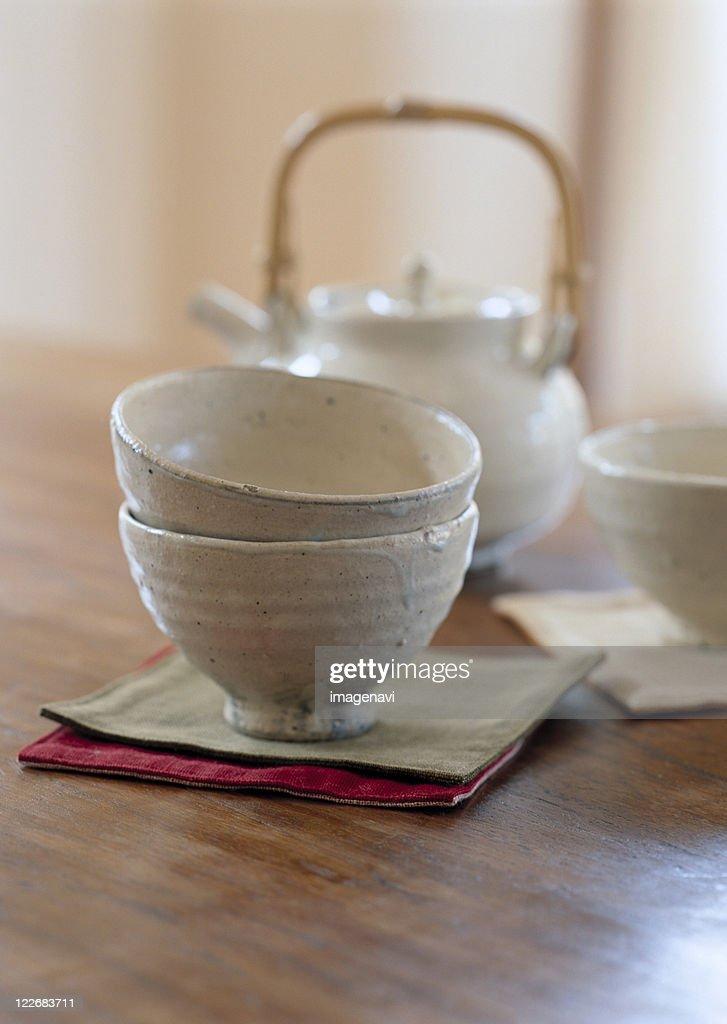 Bowl and Teapot : Stock Photo