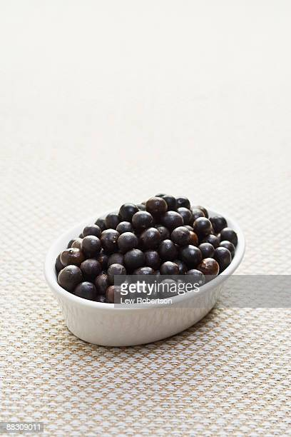 Bowl of acai berries