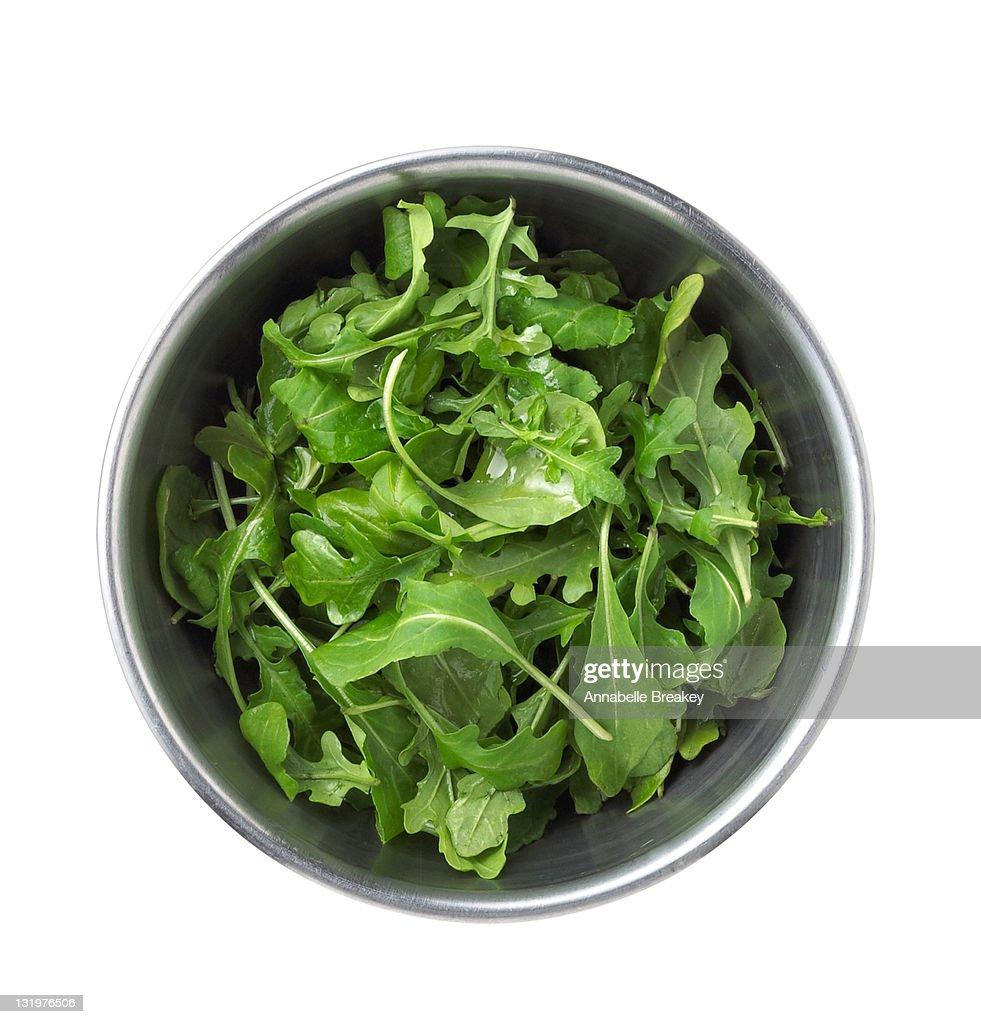 Bowl of Baby Arugula Salad
