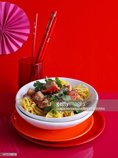Bowl of beef and noodles