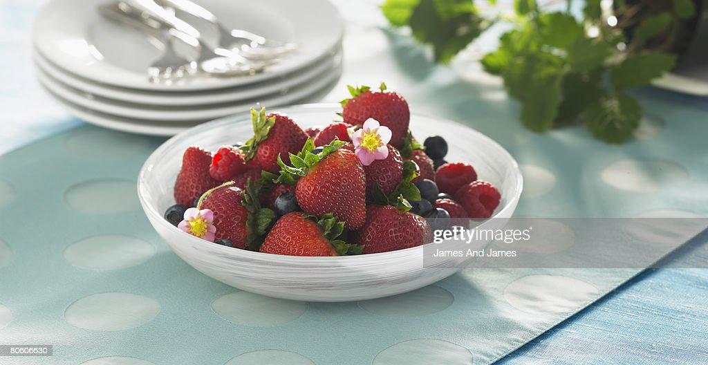 Bowl of berries : Stock Photo