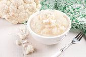 Buttered cauliflower gluten free paleo meal