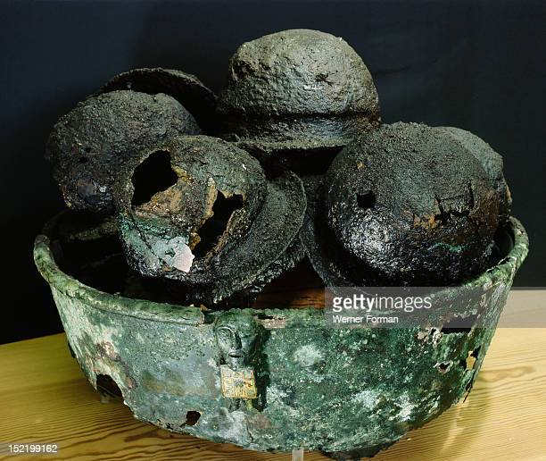 Bowl of Celtic origin probably made in Ireland and brought as loot in Norway Found in a burial mound it was used to collect the bosses of the shields...