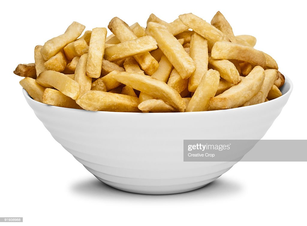 Bowl of chips / french fries : Stock Photo