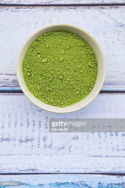 Bowl of chlorella powder