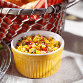 Bowl of corn salad