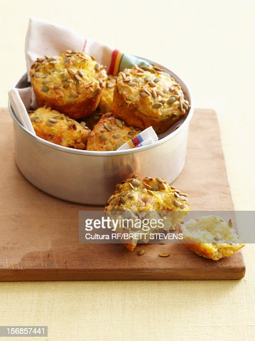 Bowl of cornbread muffins