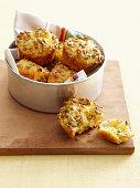 Bowl of cornbread muffins
