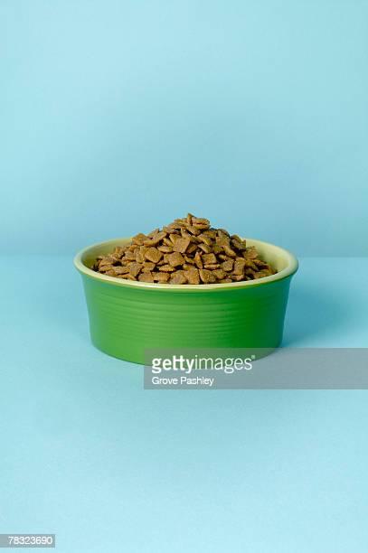Bowl of dog food