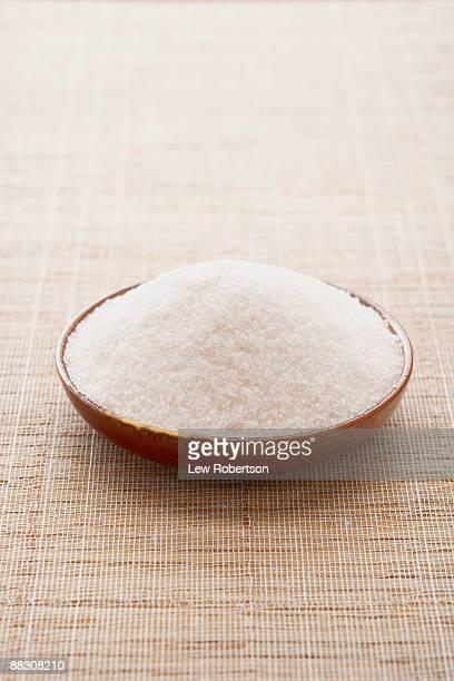 Bowl of fine Himalayan pink salt