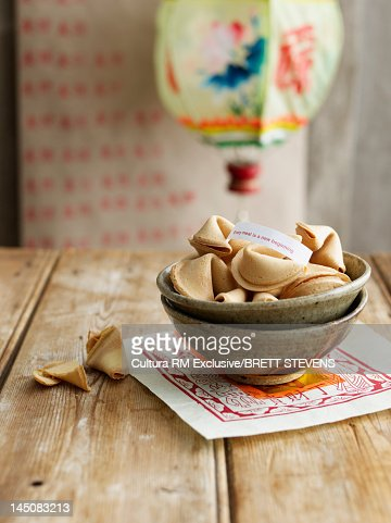 Bowl of fortune cookies