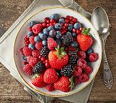 bowl of various fresh berries