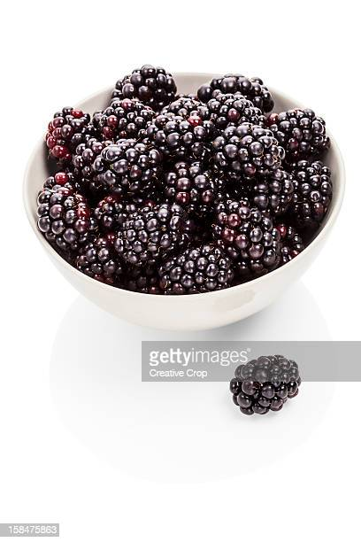 Bowl of fresh blackberries