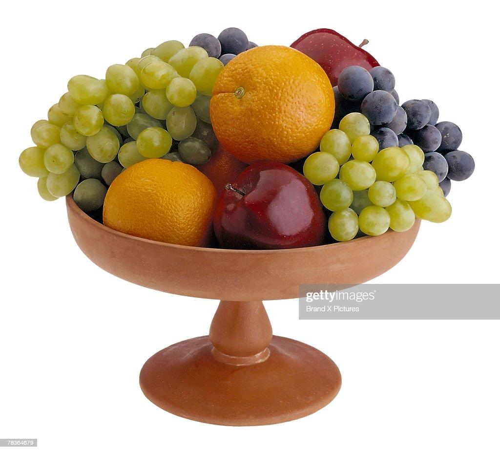 Bowl of fresh fruit : Stock Photo