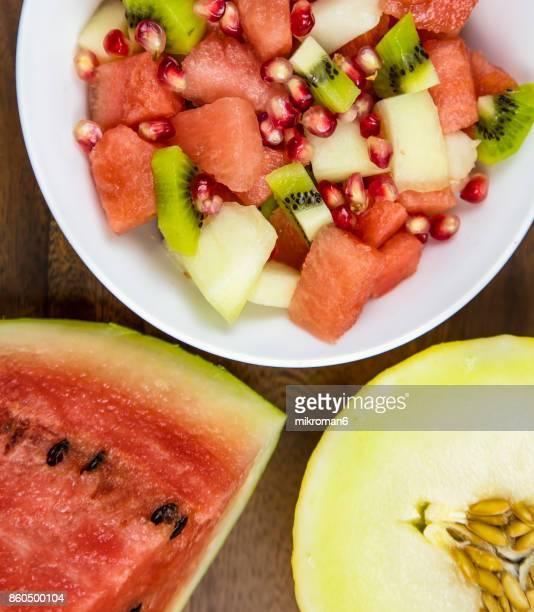 Bowl of fruit salad, close-up