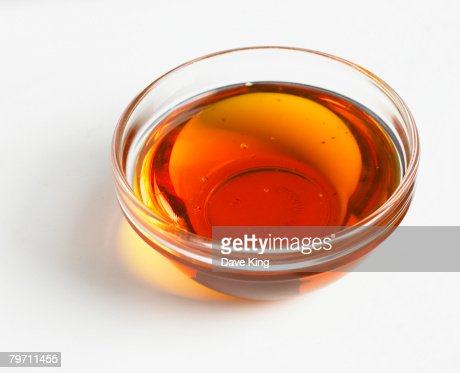 Bowl of golden syrup