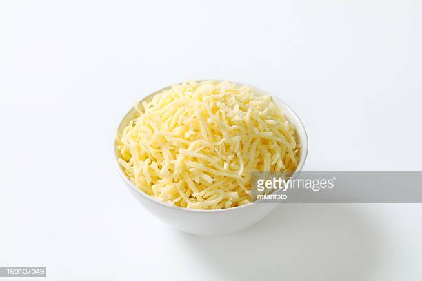 Bowl of grated cheese