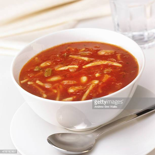 Bowl of home made minestrone soup