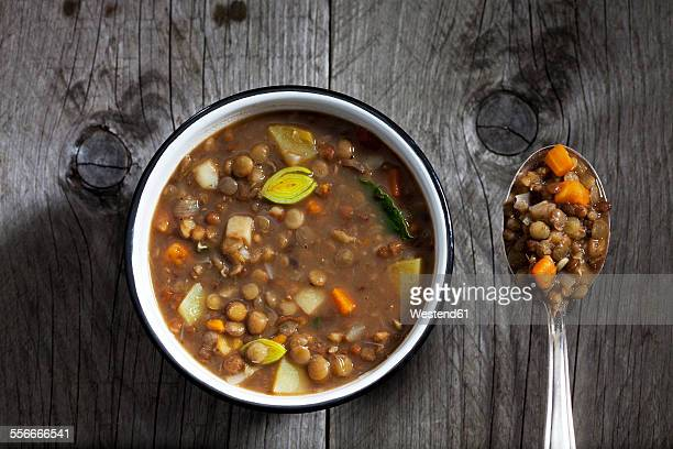 Bowl of lentil soup