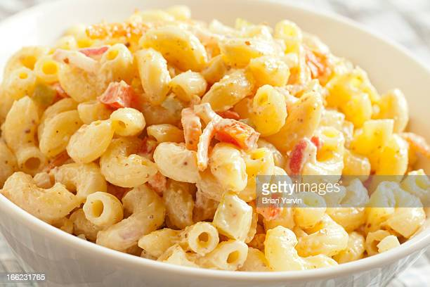 Bowl of macaroni salad