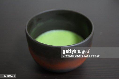 Bowl of matcha tea : Stock Photo