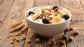 bowl of muesli and fruit
