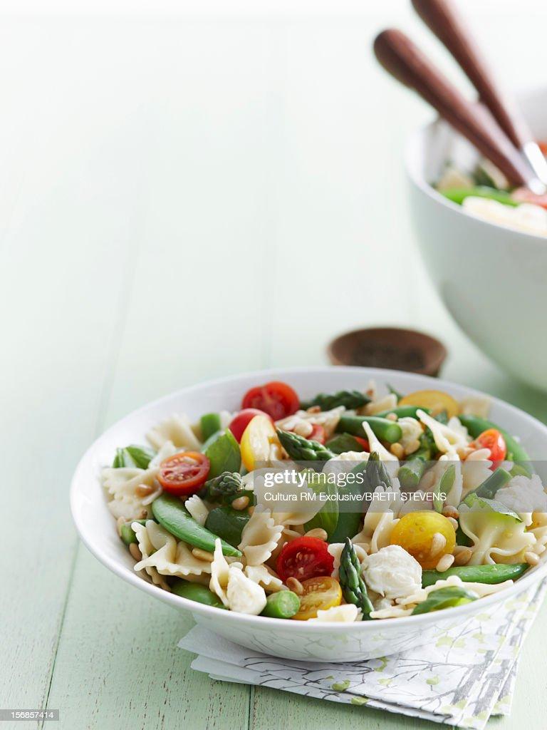Bowl of pasta salad : Stock Photo