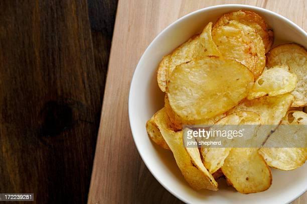 Corbeille de chips de pommes de terre