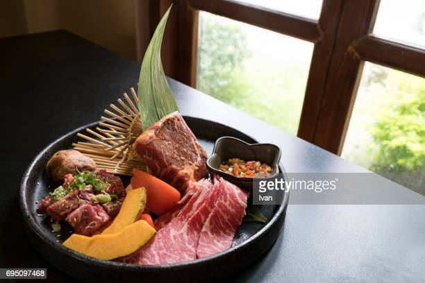 A Bowl of Prepared Freshness Mix Meat for Barbecue