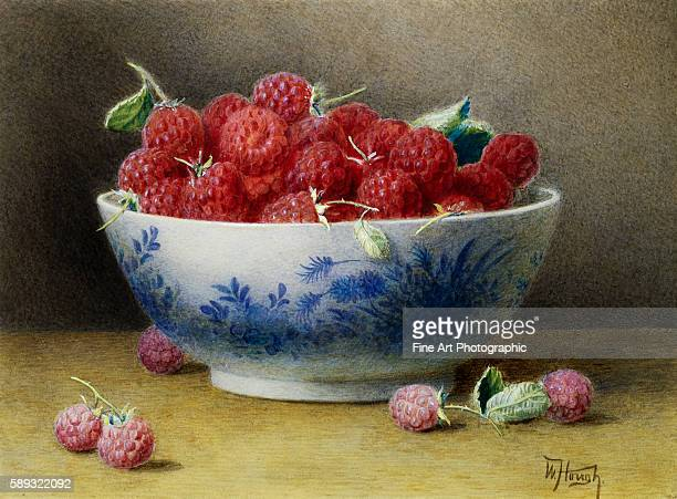 A Bowl of Raspberries by Willam B Hough