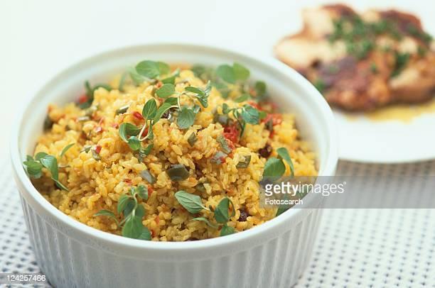 Bowl Of Rice Dish