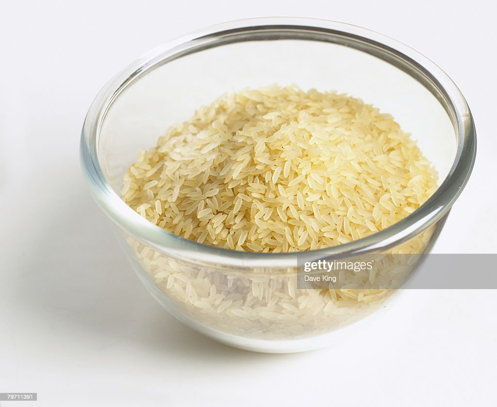 Bowl of rice : Stock Photo