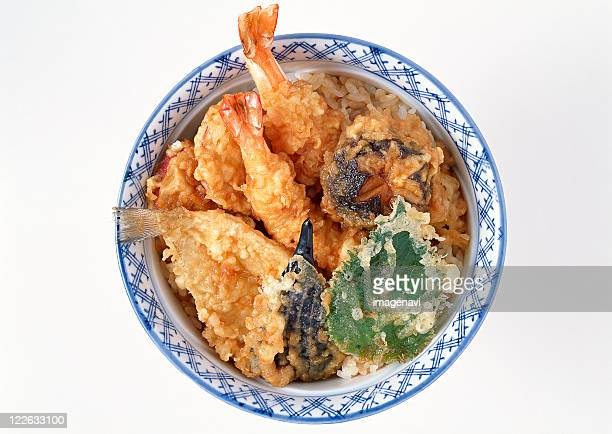 Bowl of Rice with Deep-fried Fish