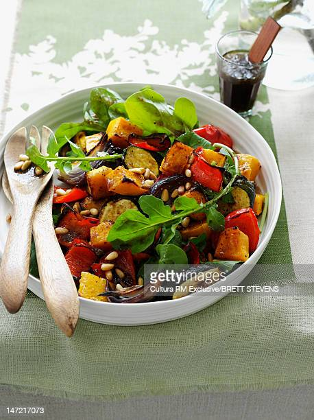 Bowl of roasted vegetable salad