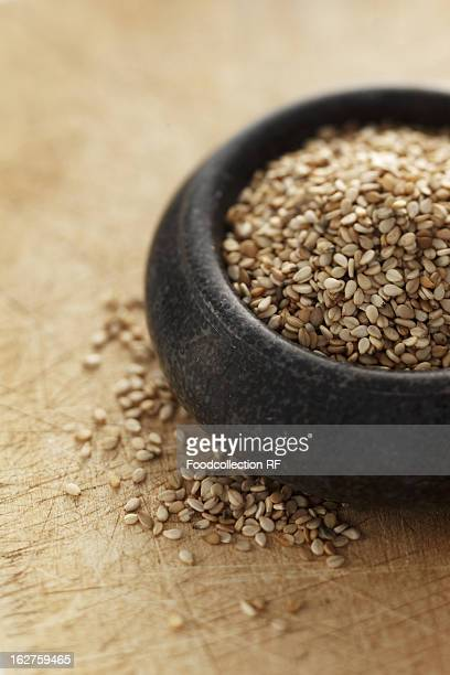 Bowl of sesame seeds