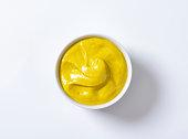 Bowl of smooth Dijon mustard