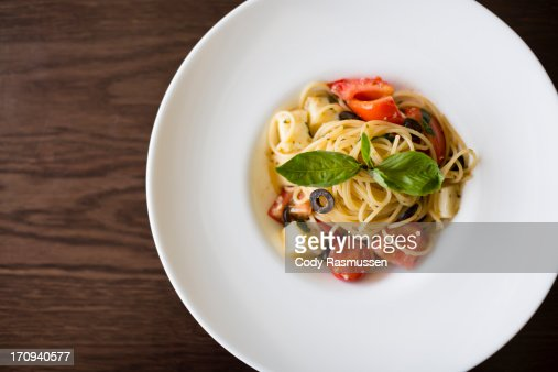 Bowl of spaghetti : Stock Photo