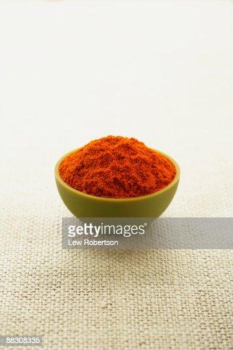 Bowl of Spanish paprika