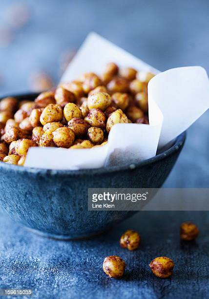 Bowl of spicy chickpeas