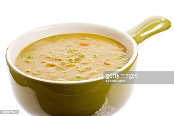 Von Split Pea Soup Bowl Isoliert