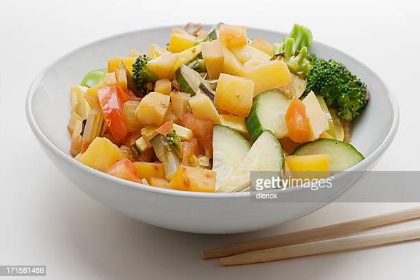 bowl of stir fried vegetables