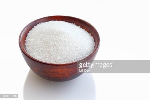 Bowl of Sugar or Salt : Foto de stock