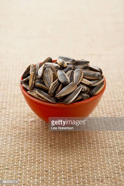 Bowl of sunflower seeds