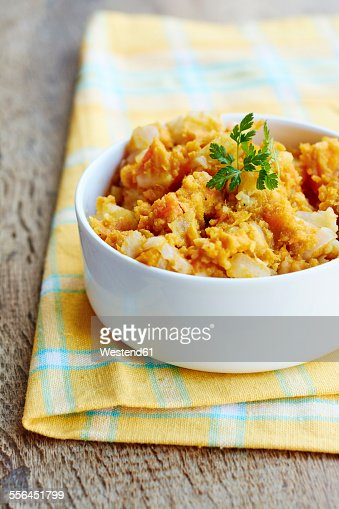 Bowl Of Sweet Potato Parsnip Mash Stock Photo | Getty Images