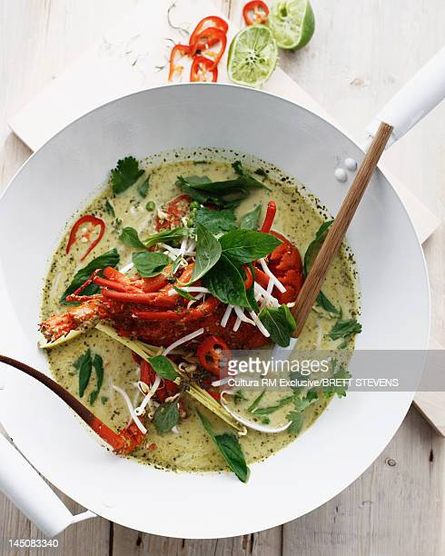 Bowl of Thai lobster curry