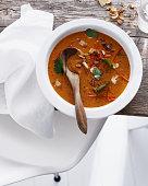 Bowl of Thai tomato soup