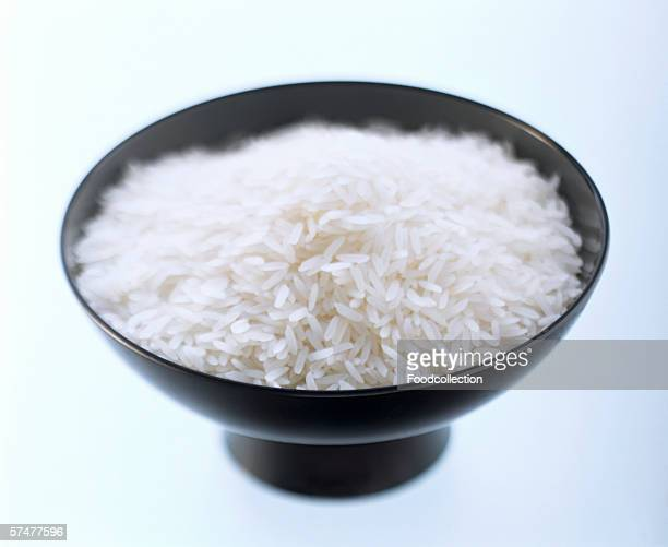 A Bowl of Uncooked White Rice